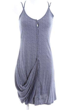 Sandwich Jerseykleid blau-weiß Allover-Druck Casual-Look