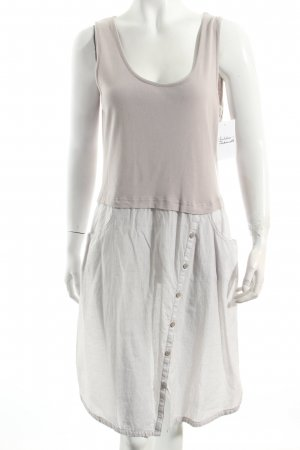 Sandwich Kleid beige Karomuster Casual-Look