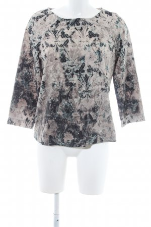 Sandwich Langarm-Bluse florales Muster Casual-Look