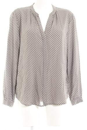 Sandwich Langarm-Bluse graubraun-weiß abstraktes Muster Casual-Look