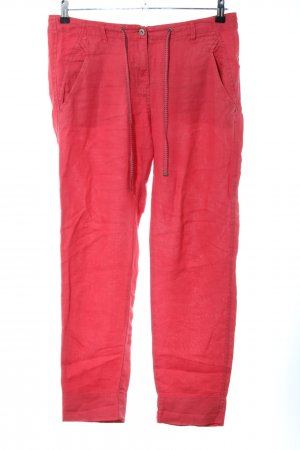 Sandwich Linen Pants red casual look