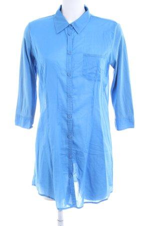Sandwich Long-Bluse blau Business-Look
