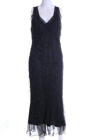 Sandwich Maxikleid schwarz-blau Elegant
