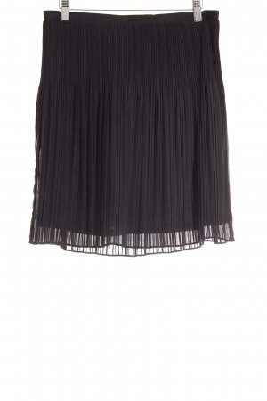 Sandwich Pleated Skirt black simple style