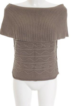 Sandwich Poncho beige motif tricoté lâche style décontracté
