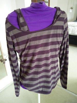 Sandwich Stripe Shirt brown violet