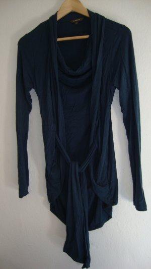 Camisa con cuello caído petróleo-azul oscuro Viscosa