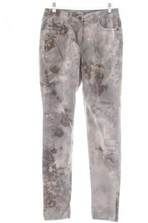 Sandwich Skinny Jeans grüngrau-khaki Farbtupfermuster Casual-Look