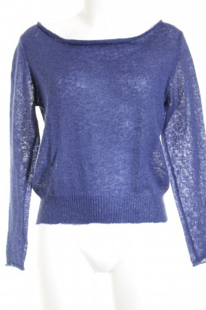 Sandwich Strickpullover blau Casual-Look