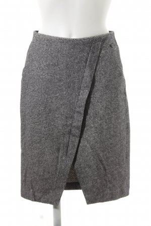 Sandwich Knitted Skirt grey-black abstract pattern casual look