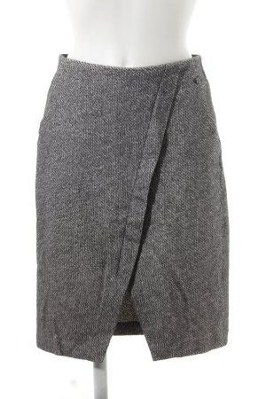 Sandwich Jupe tricotée gris-noir motif abstrait style décontracté