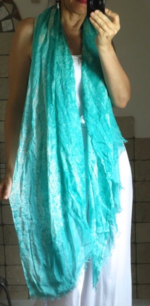 Sandwich Shoulder Scarf mint-turquoise viscose