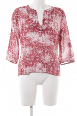 905408ef3e7 Sandwich Tunic Blouse white-red abstract pattern casual look