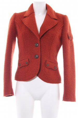 Sandwich Wolljacke dunkelorange Casual-Look