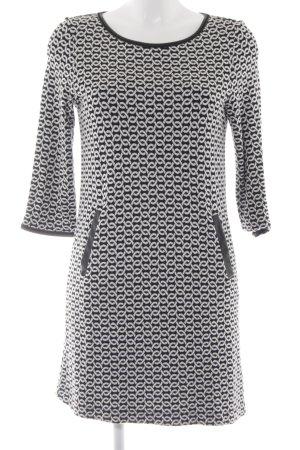 Sani Blu Minikleid schwarz-weiß grafisches Muster Casual-Look