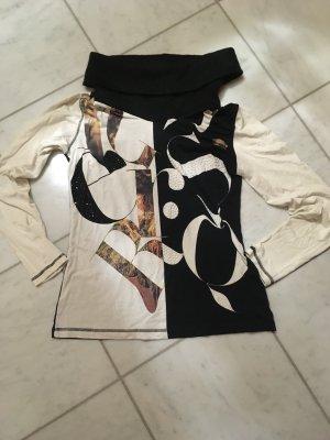 Sani Blu Turtleneck Sweater black-white