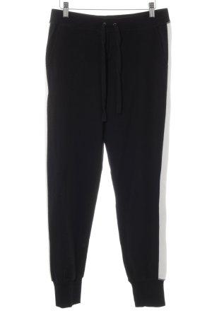 Sani Blu Stretchhose schwarz-weiß Casual-Look