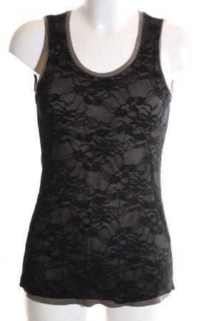 Sani Blu Tank Top black-light grey allover print elegant