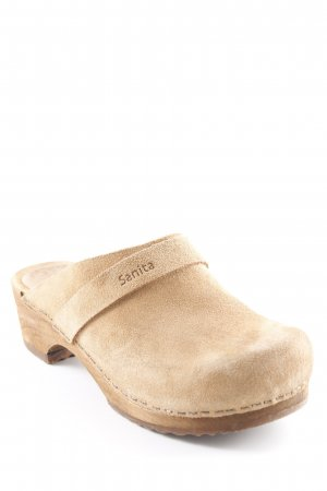 Sanita Heel Pantolettes camel country style