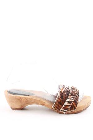 Sanita Clog Sandals brown-natural white casual look