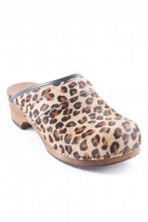 Sanita Clog Sandalen Leomuster Animal-Look