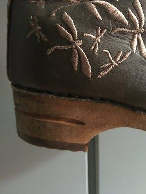 Sanita Clogs Boots Stiefel, grün, 40