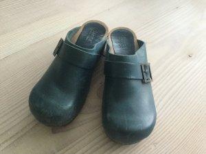 Sanita Clogs, Pantoletten Gr. 40 Blau, Petrol, Holz Glogs