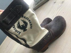 Sanita Clogs Stiefel Gr. 40, Holz Glogs, braun beige *ausverkauft*