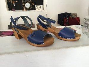 Sanita Clog Sandals steel blue leather