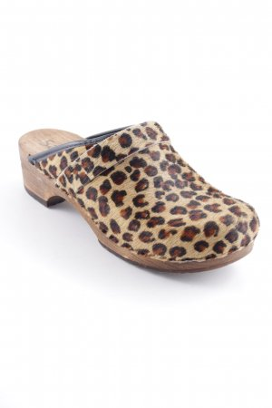 Sanita Klompen luipaardprint extravagante stijl