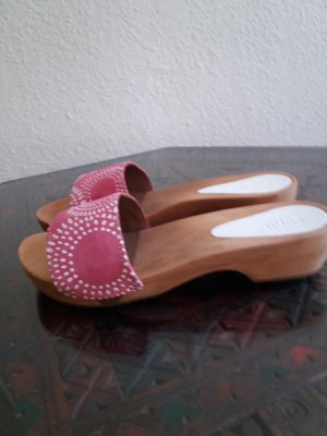 Sanita High-Heeled Sandals white-bright red