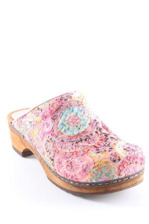 Sanita Schlüpfschuhe florales Muster Country-Look