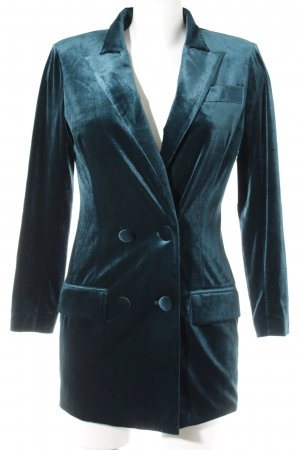 Sanne Alexandra Long-Blazer kadettblau extravaganter Stil