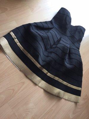 Sans Souci Vestido bustier negro-color oro