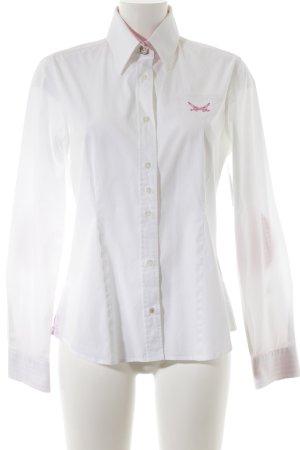 Sansibar Hemd-Bluse weiß-magenta Street-Fashion-Look
