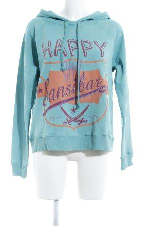 Sansibar Kapuzensweatshirt grafisches Muster Casual-Look