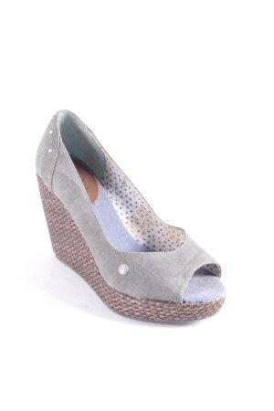 Sansibar Keil-Pumps graublau extravaganter Stil