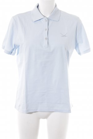 Sansibar Polo-Shirt babyblau Casual-Look