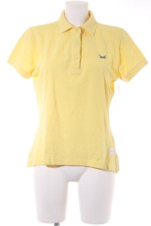 Sansibar Polo-Shirt blassgelb-dunkelblau Casual-Look