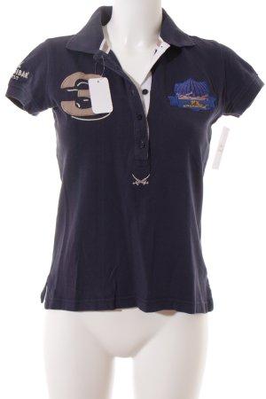 Sansibar Polo-Shirt dunkelblau Casual-Look