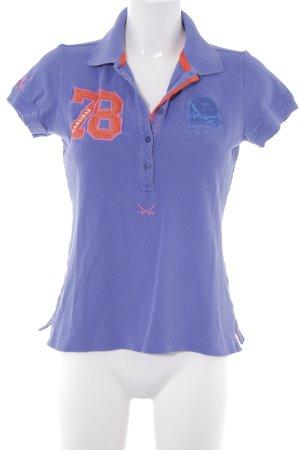 Sansibar Polo-Shirt dunkelviolett sportlicher Stil