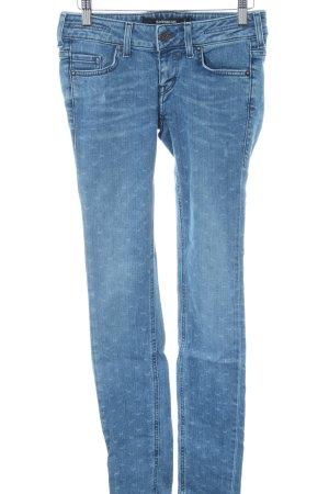 Sansibar Skinny Jeans blau Allover-Druck Casual-Look