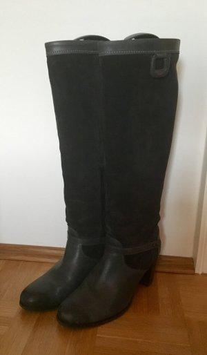 Sansibar Stiefel, dunkelgrau, Größe 39, Glattleder & Wildleder