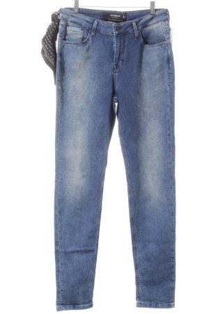 Sansibar sylt High Waist Jeans weiß-blau meliert Casual-Look