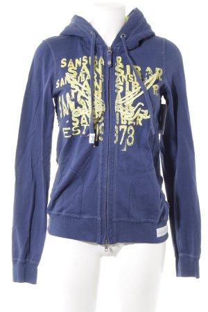 Sansibar sylt Kapuzenjacke dunkelblau-neongelb Casual-Look