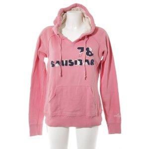 Sansibar sylt Kapuzenpullover rosa Schriftzug gestickt Casual-Look