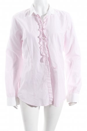 Sansibar sylt Langarm-Bluse weiß-hellrosa Streifenmuster Romantik-Look