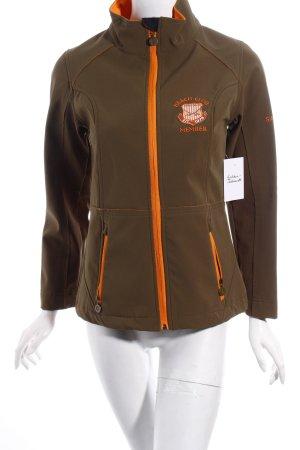 Sansibar sylt Outdoorjacke khaki-apricot sportlicher Stil