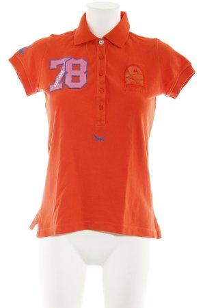 Sansibar sylt Polo-Shirt orange Segel-Look