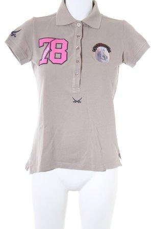 best service b1898 3d8f1 Sansibar sylt Polo-Shirt taupe Segel-Look